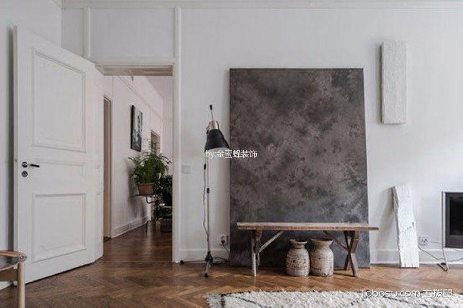 玄关白色背景墙现代风格效果图