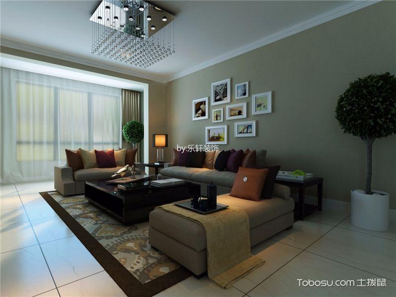 现代风格135平米3房2厅房子装饰效果图
