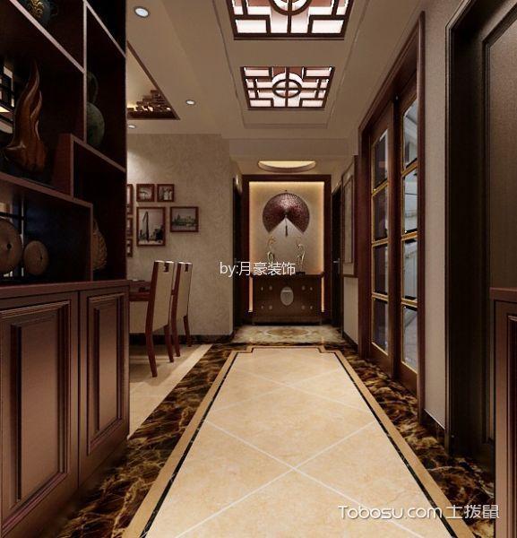 玄关 走廊_新中式风格140平米3房2厅房子装饰效果图