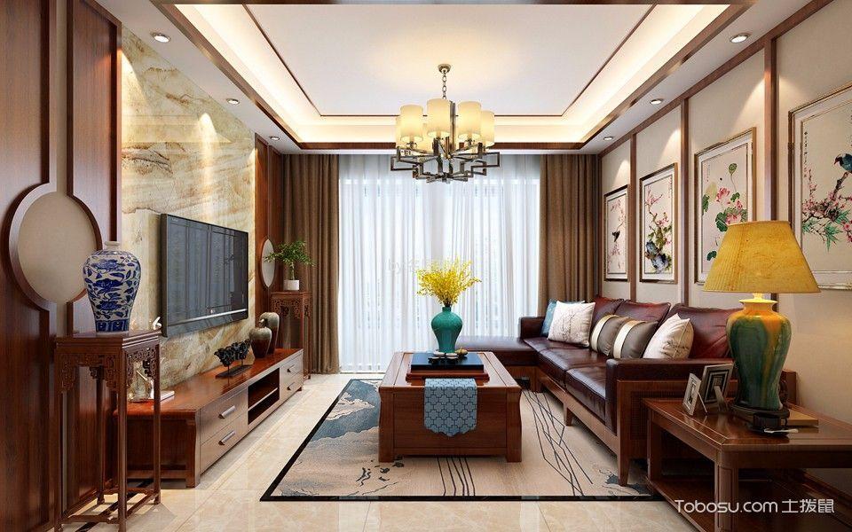 中式风格100平米套房室内装修效果图