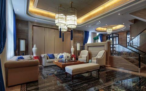 中式风格320平米套房新房装修效果图