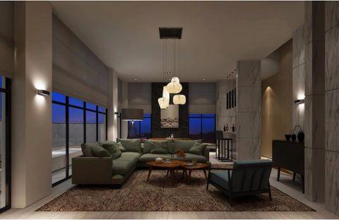现代简约风格230平米别墅房子装饰效果图