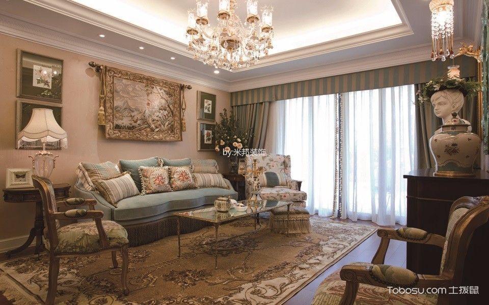 法式风格160平米3房2厅房子装饰效果图