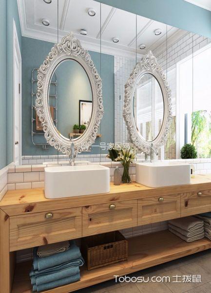 卫生间黄色洗漱台北欧风格装潢图片