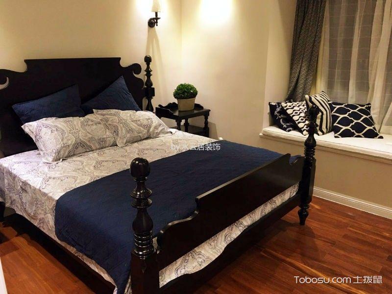 卧室黄色地板砖美式风格装饰图片