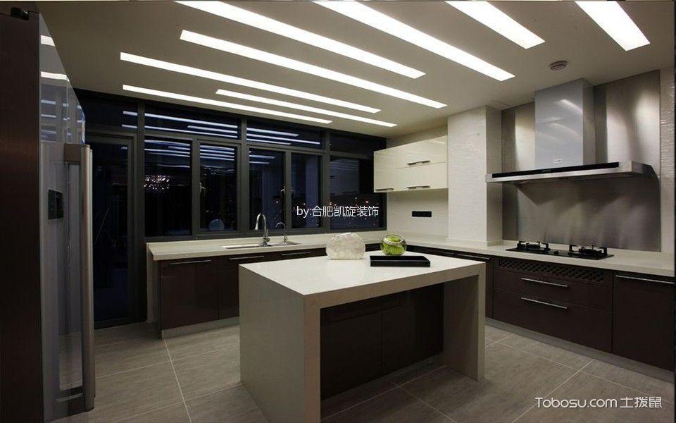 厨房 吊顶_现代风格160平米大户型新房装修效果图