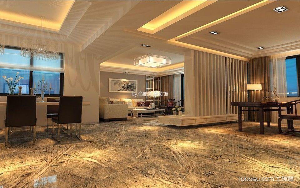 客厅 吊顶_新中式风格120平米大户型新房装修效果图