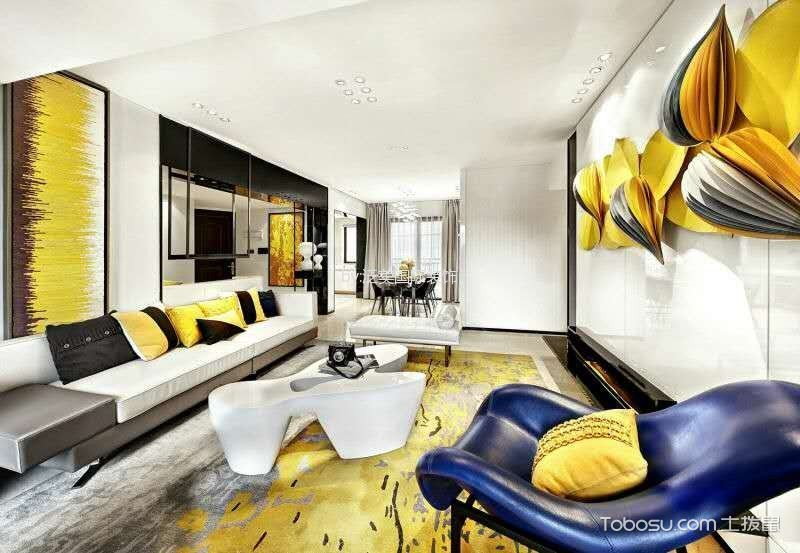 现代简约风格120平米套房室内装修效果图