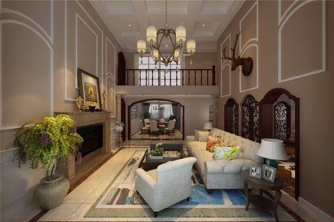 美式风格200平米跃层房子装饰效果图