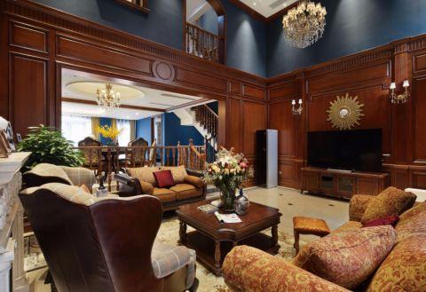 欧式风格300平米跃层房子装饰效果图