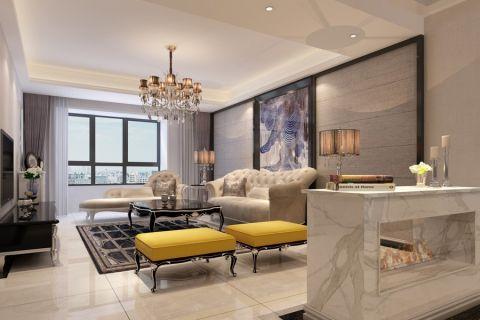新古典风格134平米三房两厅新房装修效果图