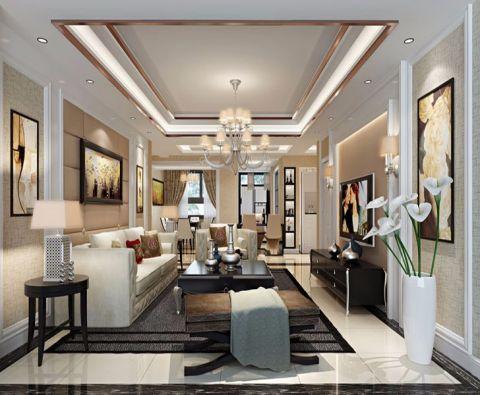 现代风格130平米三房两厅新房装修效果图