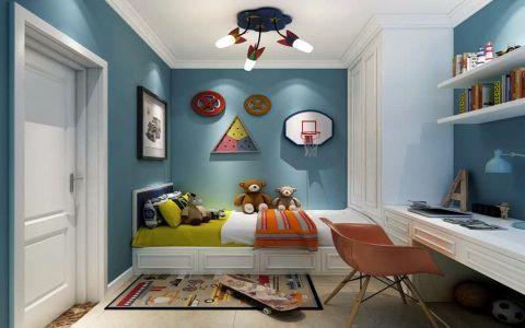 儿童房背景墙简约风格装修效果图