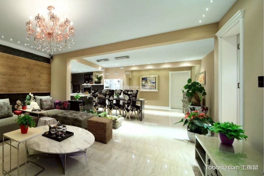 现代简约风格230平米大户型新房装修效果图