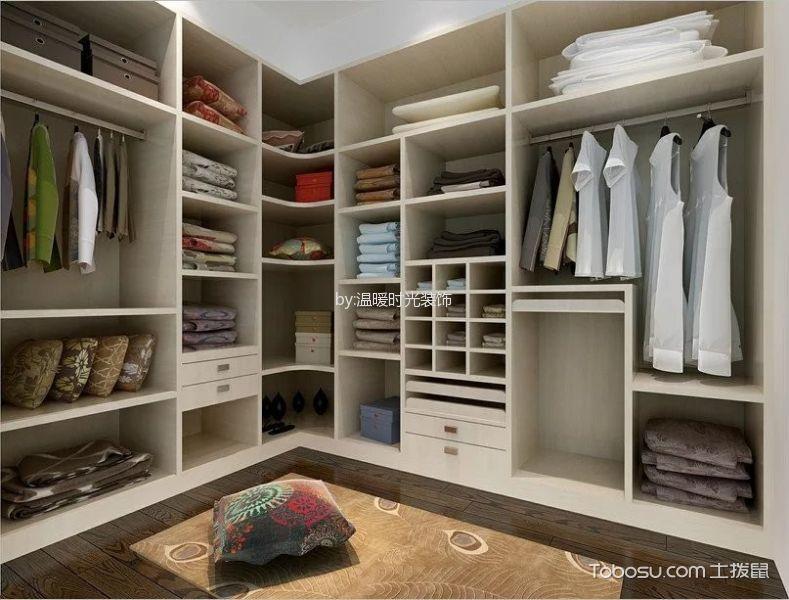 衣帽间 衣柜_现代风格风格110平米三房两厅新房装修效果图