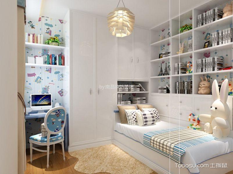 卧室白色榻榻米欧式风格装潢图片