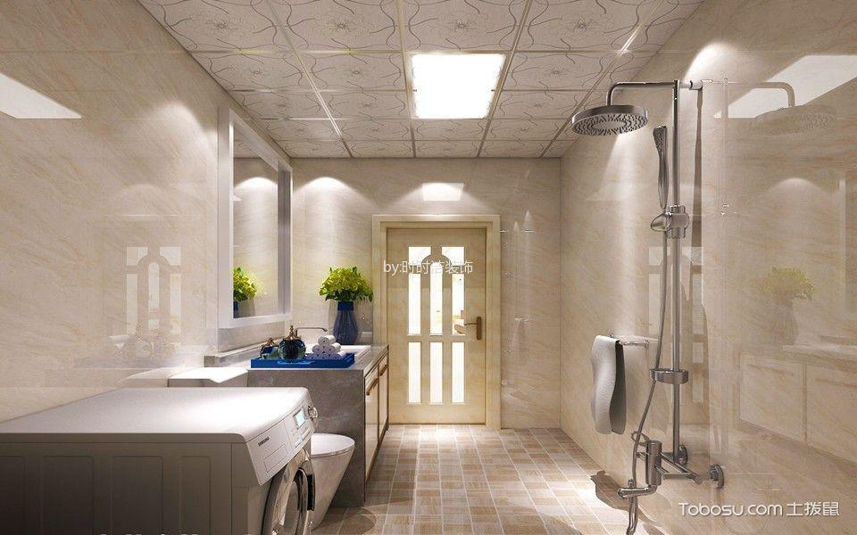 卫生间 背景墙_简约风格134平米三房两厅新房装修效果图