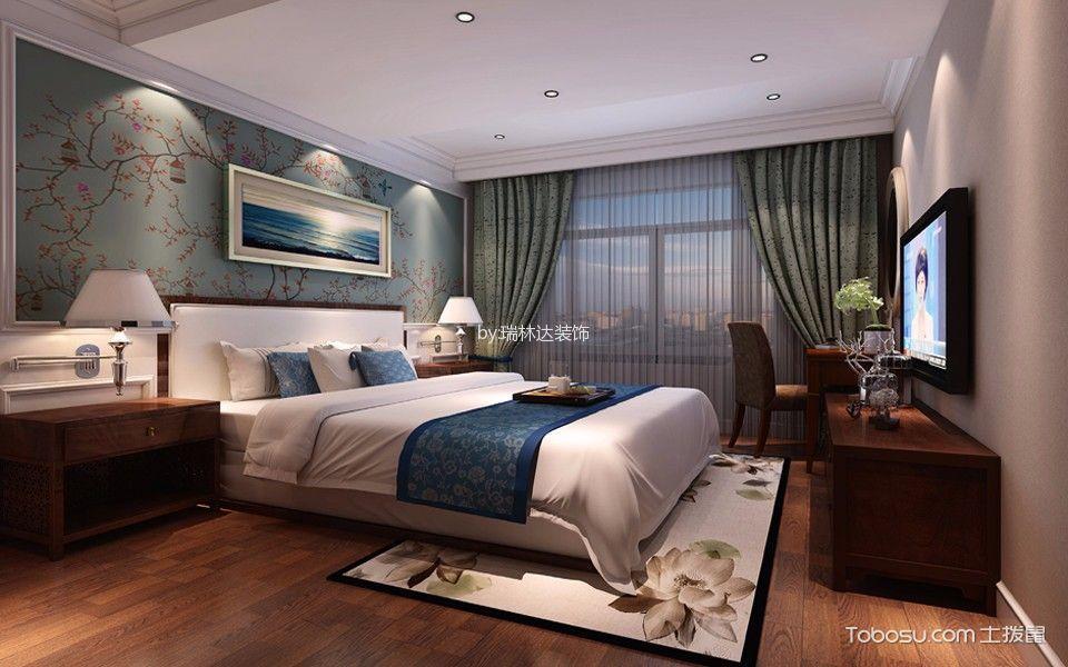 卧室黄色地板砖美式风格装修效果图