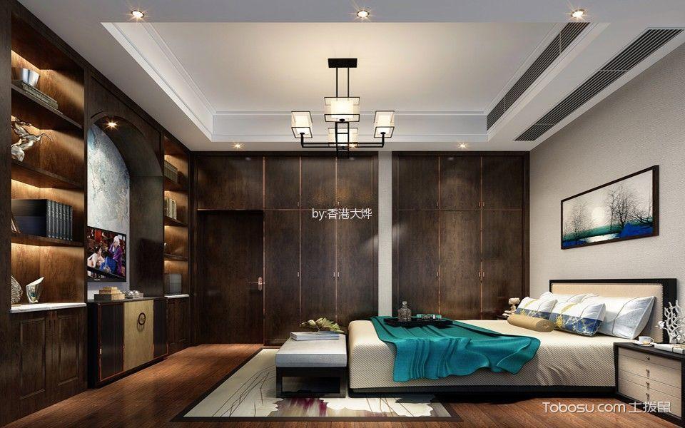 卧室 博古架_中式风格330平米别墅房子装饰效果图