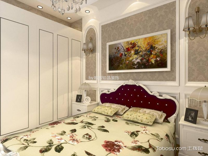 卧室 背景墙_金地名悦欧式风格三居室效果图