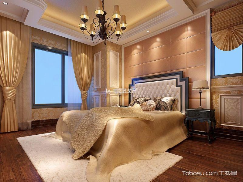 卧室 吊顶_欧式风格100平米两房两厅新房装修效果图