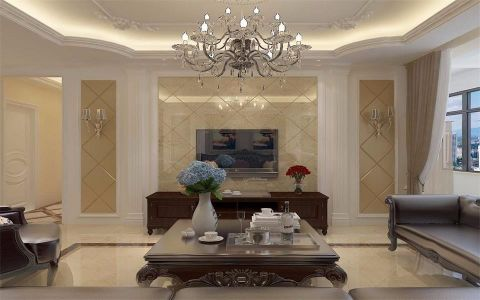 现代欧式风格180平米大户型室内装修效果图