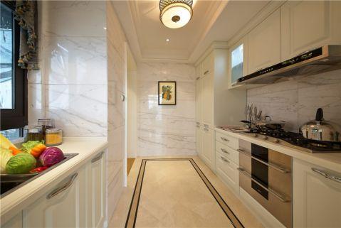 厨房白色背景墙简欧风格装潢效果图