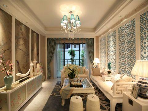 名门府新中式风格三居室设计效果图