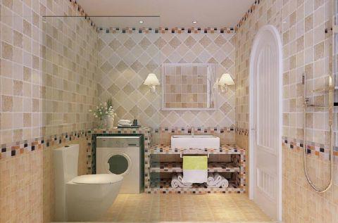 卫生间背景墙北欧风格装饰效果图