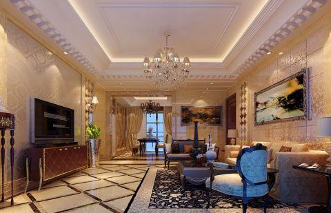 欧式风格100平米两房两厅新房装修效果图
