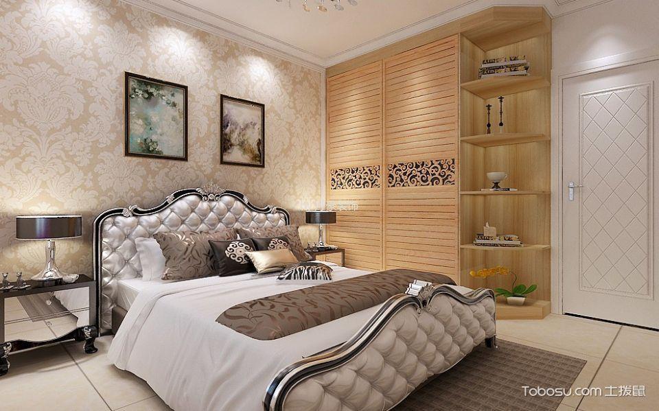 卧室黄色衣柜简欧风格装修设计图片