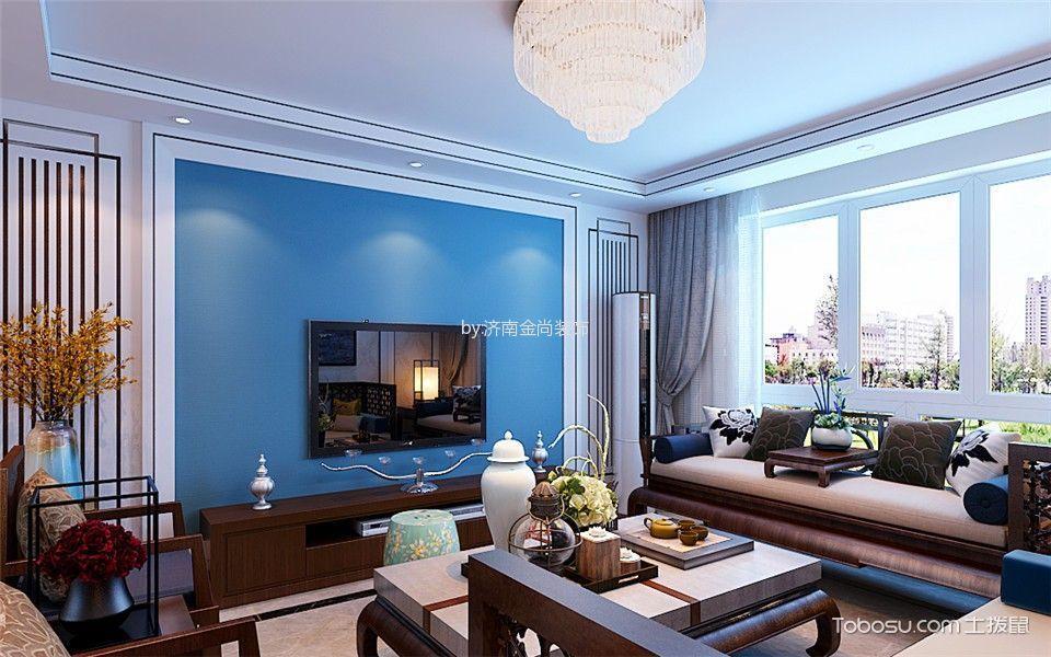 新中式风格158平米3房2厅房子装饰效果图