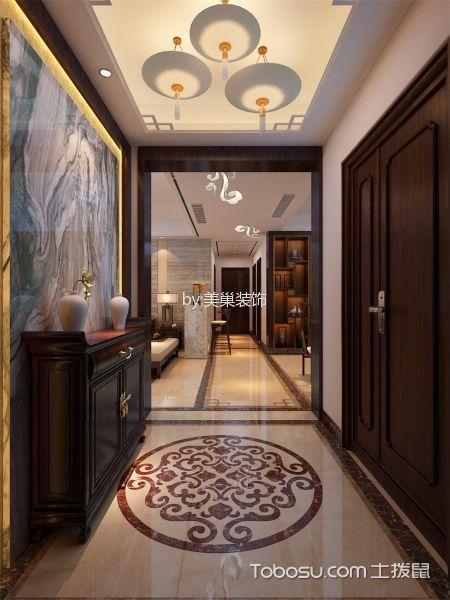 玄关 吊顶_中式风格180平米大户型房子装饰效果图