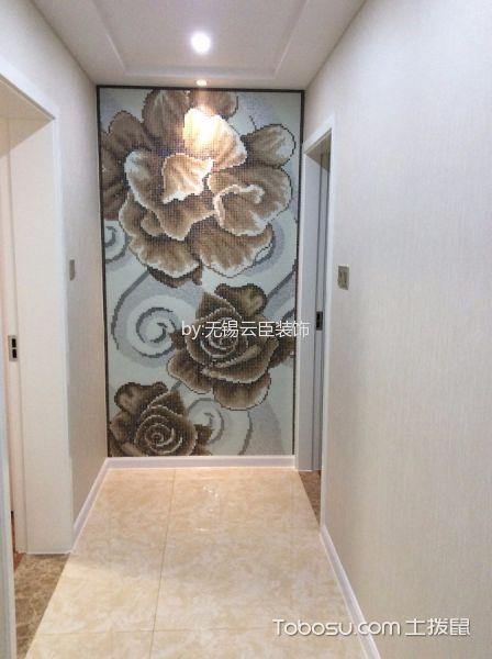 玄关白色背景墙简约风格装饰效果图