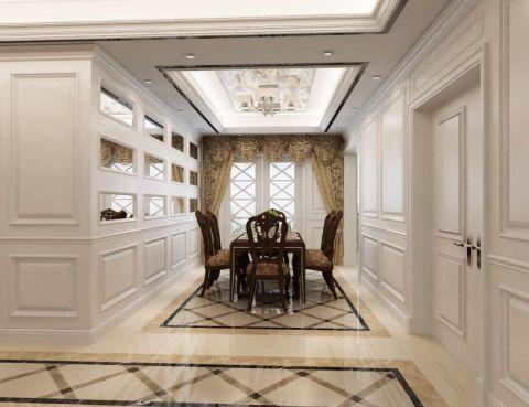 法式风格140平米3房2厅房子装饰效果图