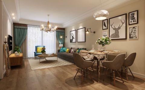 北欧风格100平米三房两厅新房装修效果图