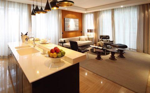 现代风格120平米两室两厅室内装修效果图
