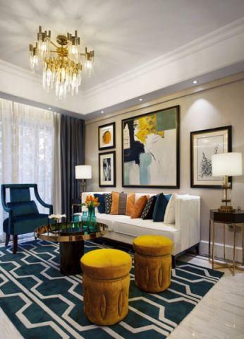 客厅窗帘混搭风格装饰效果图