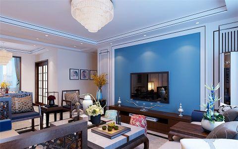 客厅灯具新中式风格装饰效果图