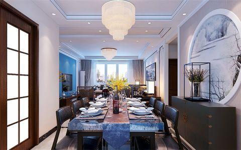 餐厅灯具新中式风格装修图片