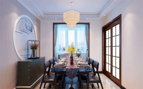 餐厅推拉门新中式风格装潢设计图片