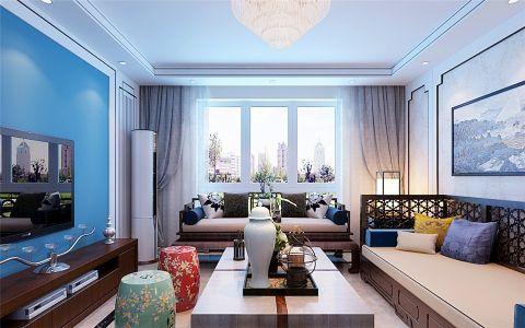 客厅窗台新中式风格效果图