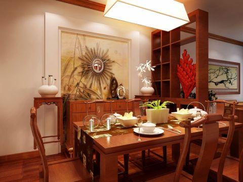 餐厅背景墙简中风格装修设计图片