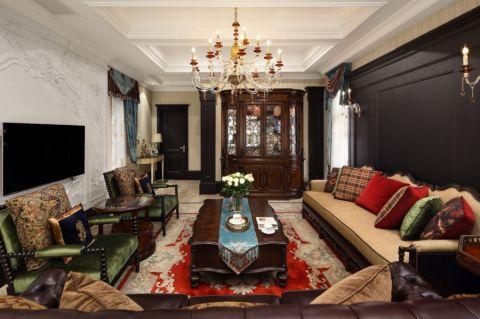 美式风格400平米4房2厅房子装饰效果图