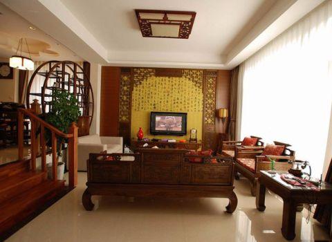 中式风格180平米复式室内装修效果图