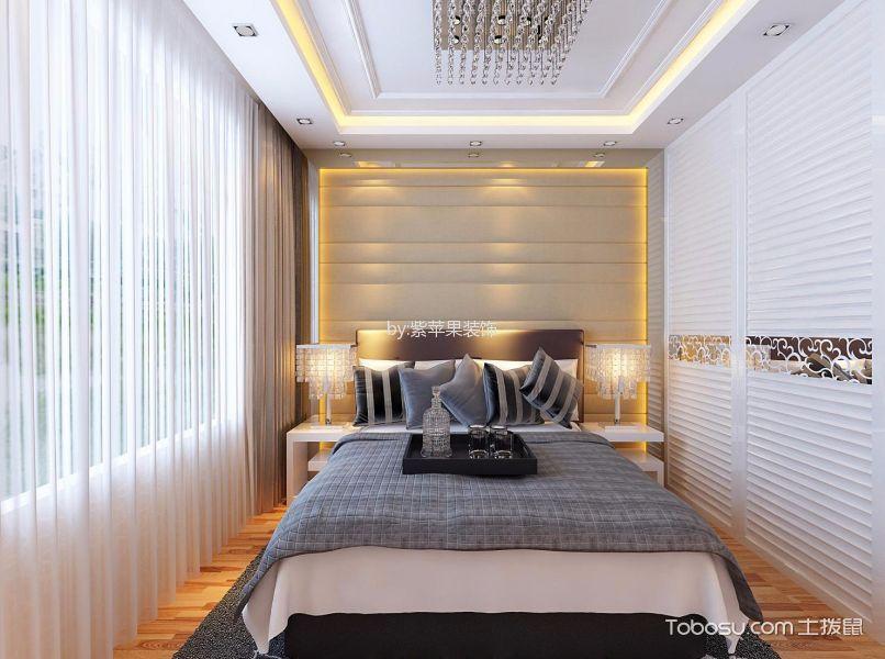卧室 窗帘_中泽纯境三居室现代简约风格效果图