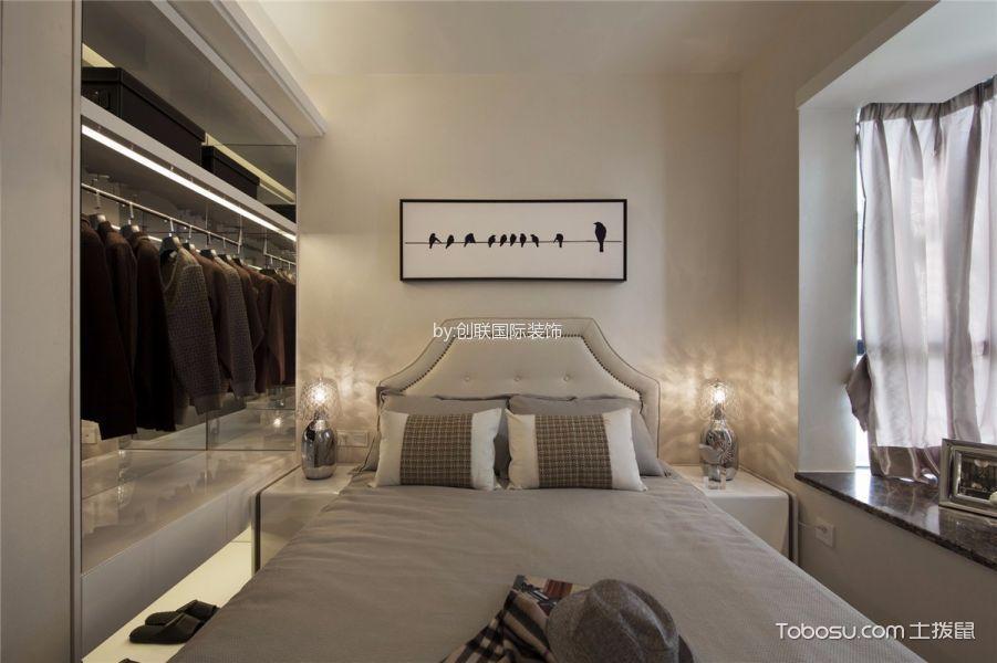 卧室 背景墙_阳光水榭120平方简约风格效果图