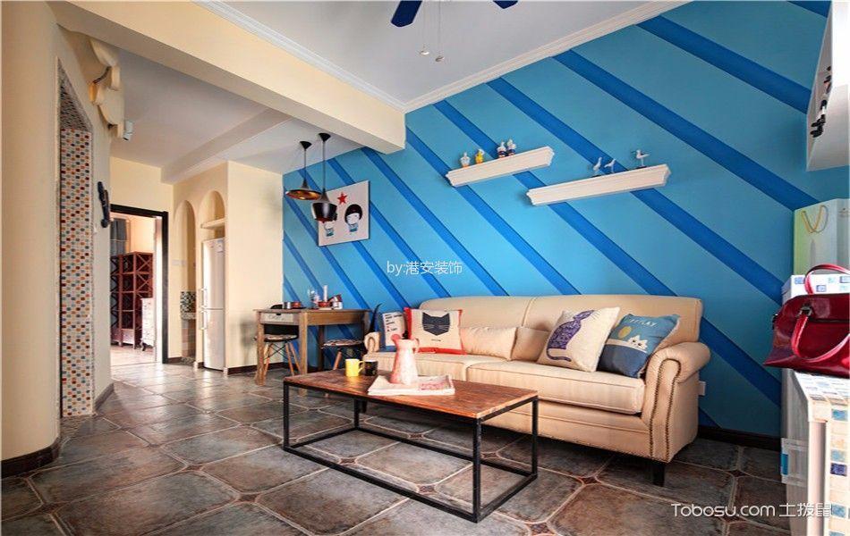 地中海风格120平米两室两厅室内装修效果图