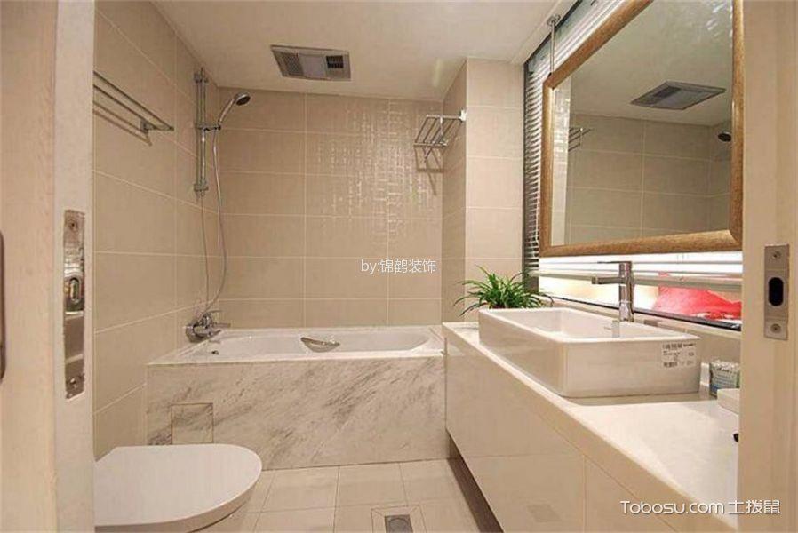 卫生间米色背景墙中式风格装饰图片