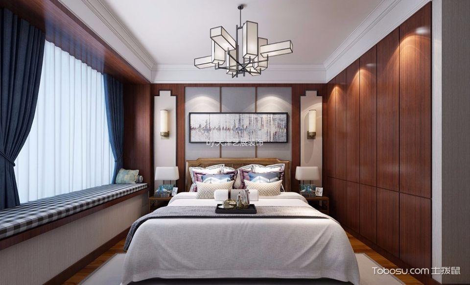 卧室 吊顶_天安珑园新中式风格装修效果图